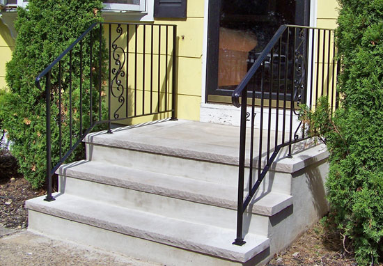 Double Wrought Iron Railings