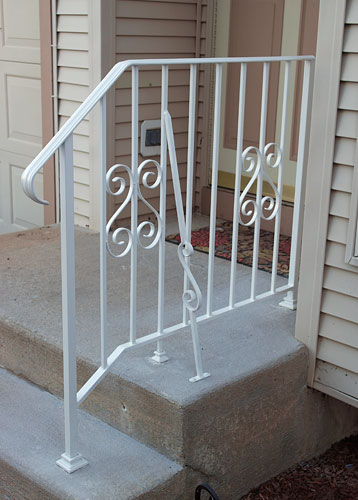 Heavy Duty Wrought Iron Railing with Side Brace