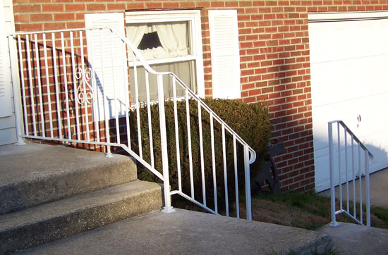 White Wrought Iron Railing Continuous