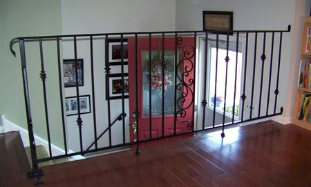 Wrought Iron Railing in Living Room