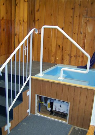 Iron Pipe Railing for Spa or Pool