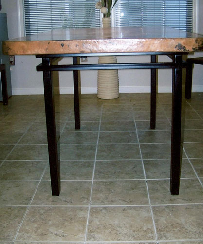 Modern Iron Dining Room Table