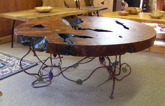 Decorative Wrought Iron Grapevine Coffee Table