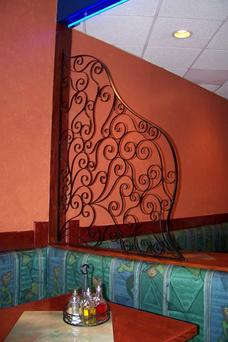Wrought Iron Room Divider